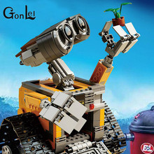 GonLeI 16003 Idea Robot WALL E Building Blocks Bricks Toys for Children WALL-E Birthday Compatible Gifts