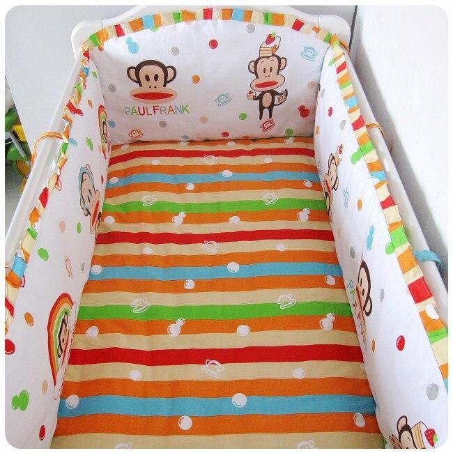 Promotion! 6PCS Crib Baby Bedding Set Baby Nursery Cot Ropa de Cama Crib Bumper (bumper+sheet+pillow cover)<br><br>Aliexpress