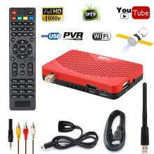 Mini Size Digital 1080P DVB-S2 Satellite FTA Receiver IKS TV BOX Cccam Internet Power Vu PVR Record EPG + 5370 USB Wifi(China)
