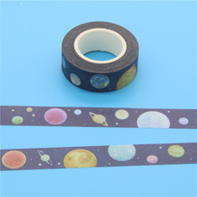 Masking Tape Fashion Cartoon Star Planet Diy Creative Home Decoration Tape Photo Album Deco Tape Washi Tickers 1.5cm * 10m