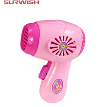 Surwish Educational Toy Electric Hair Dryer Children Pretend & Play Baby Kids Home Appliances Toy - Color Random(China)