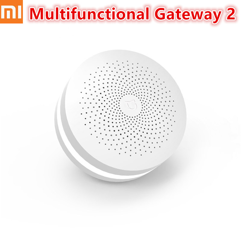 Upgrade Xiaomi Mijia Smart Home Multifunctional Gateway 2 Alarm System Intelligent Online Radio Night Light Bell New Version