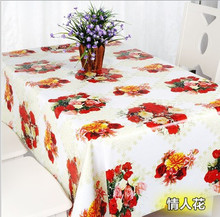 New Arrival pastoral Style Tablecloth PVC Plastic Table Cloth Rectangle Square Table Cover Home Decoration Waterproof