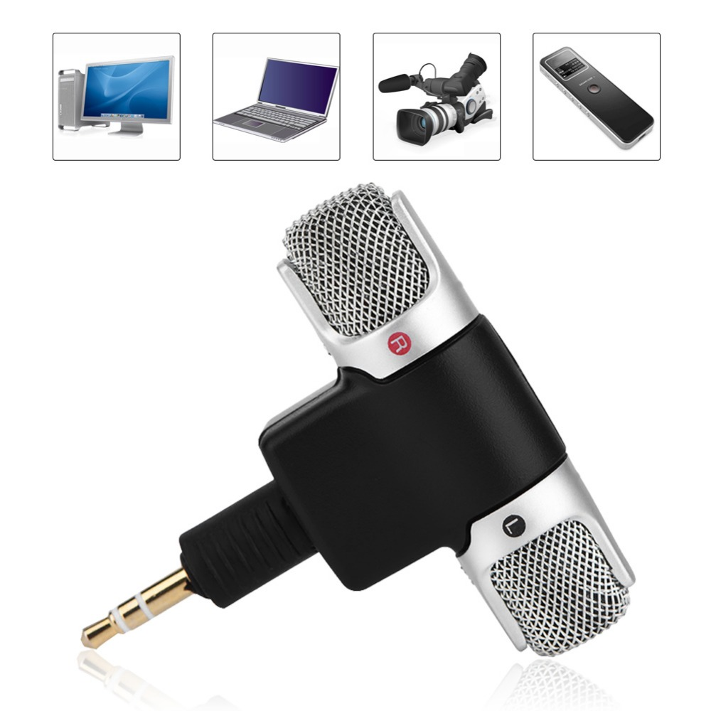 Mini Stereo Microphone Mic 3.5mm Gold-plating Plug Jack for PC Laptop MD Camera (9)