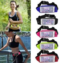 Waterproof Waist Travel Sport Running Belt Money Wallet Pouch For iPhone 6 Plus 5.5 Sports Pack Hiking Leisure Mini Zip Bag(China)