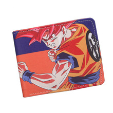 New 2016 Fashion Dragon Ball Z Wallet Japanese Anime Son Goku Genki Dama Shenron Cartoon Wallet Purse Short Wallet For Men Women(China)