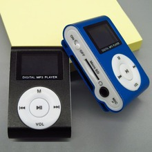 Metal Clip  Mini  MP3 Music Media Player  LCD Screen with USB Cable Support Micro SD TF  Digital Mp3 players
