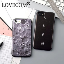 New Arrival For iPhone 6 6S Plus 7 Plus Eclipse & Moon Surface Pure Black Covers Soft TPU Anti Shock Mobile Phone Cases YC2186