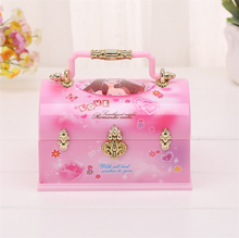 Girls Ballet Dance Music Instrument Jewelry Box & Portable Make up Box Fashion Jewellery Box  Childrens Doll Gift Pink Xmas sale