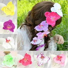 1 PC Orchid Flower Floral Clip Wedding Prom Festival Hairpin For Women Hair Accessory