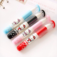 H06 Cute Kawaii Hello Kitty Large Capacity Pocket Gel Pen School Office Supply Student Prize Gift Stationery Writing Signing Pen