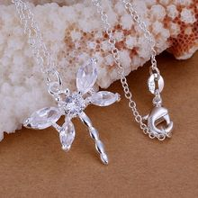 P012_2 Hot sale fine silver plated jewelry,Wholesale Factory 925 charms free shipping fashion Inlaid stone dragonfly pendants