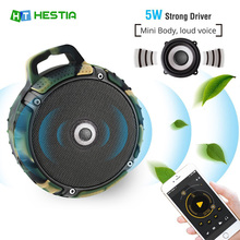 HESTIA Mini Waterproof IPX7 Bluetooth Speaker Portable Wireless Handfree& TF Card Dustproof Anti Fall Keychain Audio Player(China)