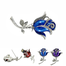 Free Shipping Diamond Rose flowers 16gb USB Flash Drive Memory storage gifts Crystal brooch usb flash drive 8gb pen drive 32 gb
