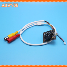 AHWVSE AHD Camera Module Board 720P 1080P M12 Lens IRC Focused NightVision CCTV Security IRCUT 3.7mm lens pigtail cable(China)