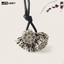 Trendy Alloy Vintage Ethnic Style Necklace Lotus roots Pendant Women Sweater Choker Necklaces