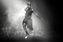 Free delivery LeBron James Custom One Direction Home Decor Poster Print creative mural art Wall Sticker FREE SHIPPING More Size(China)
