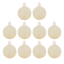10pcs Wooden Round Bauble Hanging Christmas Tree Blank Decorations Gift Tag Shapes Art Craft Ornaments DIY Xmas Decors
