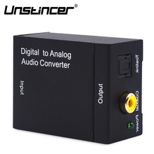 Digital To Analog Audio Converter Adapter Box Coaxial or Toslink Digital Audio to Analog L/R Audio for Amplifier via RCA jacks(China)