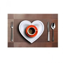 PVC Placemats Dining Room Placemats Dinner Table Heat Insulation Mat 4pcs(China)
