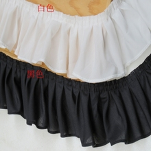 5meters/pack 8.5cm Black/White Ruffled Cloth Lace Fabric Skirt/Collar Accessories W413(China)