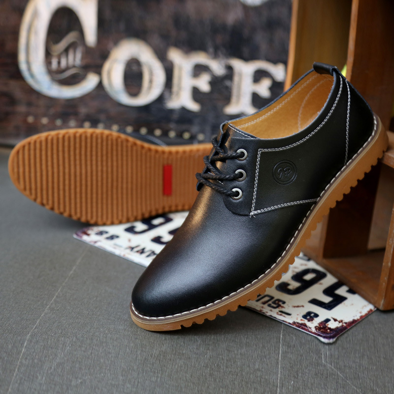 Man Genuine Leather Casual Shoes Cow Leather Solid Male Fashion Board Shoes<br>