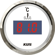 hot sales !!! 52mm digital water temperature gauge  with temp. sensor white faceplate  for marine  yatch  truck