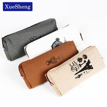 1 PC Retro Towers Linen Pencil Bag Students Paris Style Pencil Cases Stationery Material Escolar Office Supplies New Arrival(China)
