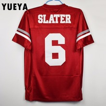 "YUEYA ""Saved By The Bell"" Movie Jerseys #6 AC Slater American Football Jersey Mens Cheap Red S-3XL"