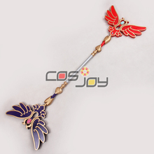 "51"" Shin Sangokumusou/Dynasty Warriors Elder Qiao Wand PVC Replica Cosplay Prop -0756"