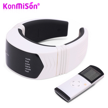 KONMISON Electric Pulse Infrared Heating Neck Massager Wireless Remote Control Cervical Vertebra Treatment SPA Massage Device(China)