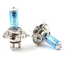 car-styling Auto 2Pcs car New H4 55 w P43T 12 v 6000 k dual short auto lamp light super white light xenon halogen free delivery