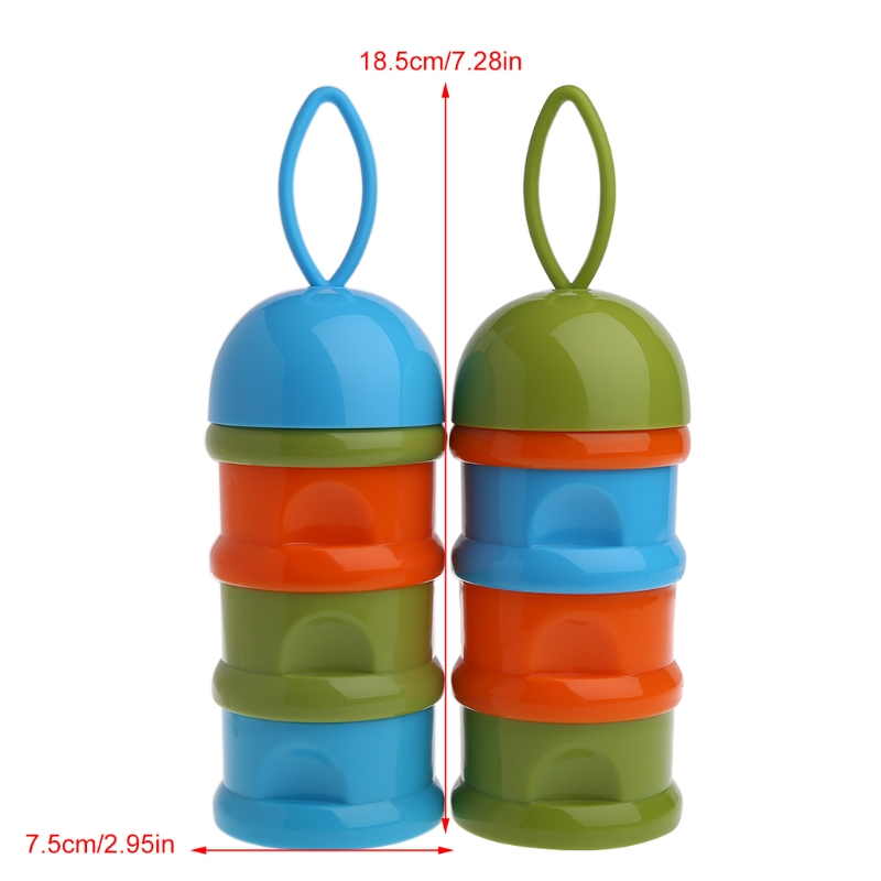 1pc 3 Layer Baby Infant Food Milk Powder Bottle Box Dispenser Container Storage Box Color Random delivery