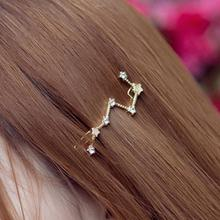 Timlee H065 Free shipping Fashion Hair Accessary  Grace Fashion Star Rhinestone Barrettes Hair Clips Hairpins Wholesale