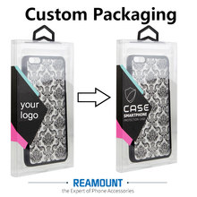 200 pcs custom made PVC packaging box for iPhone 8 8 plus case with inner trays custom LOGO for clear transparent pvc box(China)