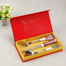 Free Shipping!!! Top Sale Popular Christmas China Tableware Sets  Fork and  Cutlery Sets LPC018