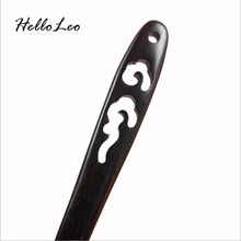 Retro Chinese Hand-carved Hollow lucky cloud Hair stick with natural fragrance Handmade vintage Women jewelry Chinese Bob Gift