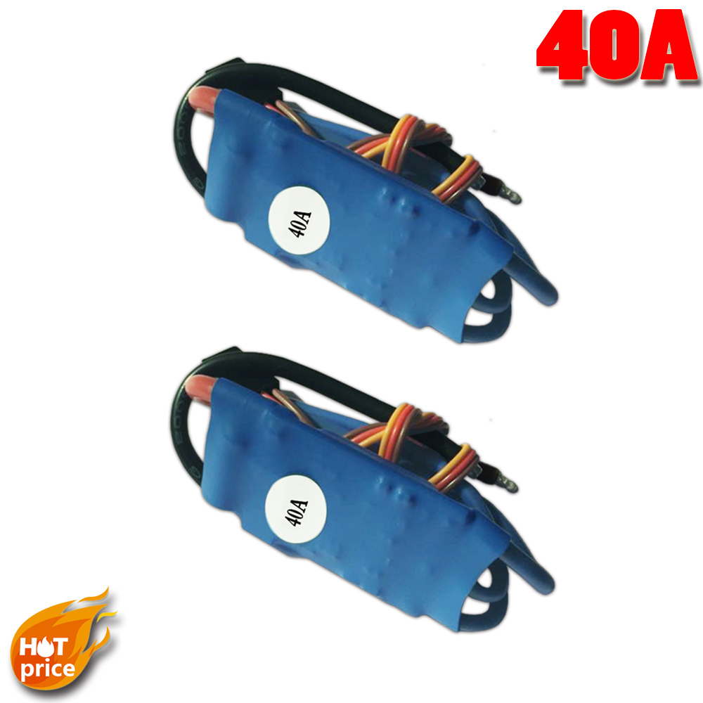 2x HP BLHELI 40A(Max:50A/10s) 35g 5A/3V BEC BL ESC Speed Controller 2-4s for Quadcopter F450 FY650 X525 Newest<br><br>Aliexpress