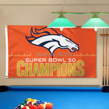 New 2016 Denver Broncos Orange Big Logo Super Bowl 50 Champions Flag 3FTX 5FT(China)