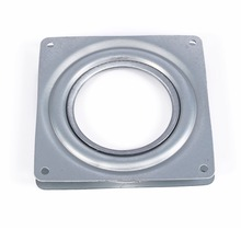 "Durable Square Rotating Swivel Plate Metal Bearing Turntable TV Rack Desk Tool 4"" Inch"