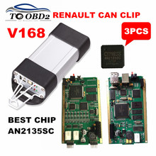 3PCS/Lot BEST AN2135SC Renault Can Clip Newest V168 Best Quality PCB Stable Function For Renault Vehicle Tester DHL FREE(China)
