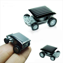 Hot New Strange Black Creative Smallest Mini Solar Powered Car Kids Children Educational Model Toys Gifts 2017(China)