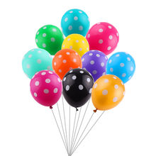 GOGO PAITY 10pcs / lot New 12 inch dot color latex balloon wedding birthday party decorations decorated balloon wholesale(China)