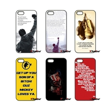 Rocky Balboa Motivational Words Art Cell Phone Case For Xiaomi Redmi Note 2 3 3S 4 Pro Mi3 Mi4i Mi4C Mi5S MAX iPod Touch 4 5 6(China)