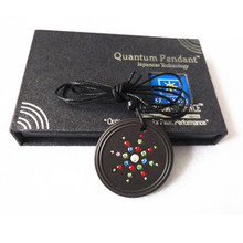 Quantum Energy Pendant Charms Sport Health Necklace Fashion Jewelry with CZ Crystal & Authenticity Card High Scalar Ions