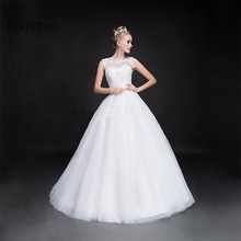 Buy Baijinbai Vestido De Noiva New Real Line Gorgeous Floor Length Wedding Dresses 2017 Beading Tank Lace Bridal Dresses7112501 for $120.96 in AliExpress store
