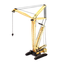 2017 New 3D Metal Puzzle Crawler Crane Adult Assembly Model Jigsaw Kit DIY Puzzle Children's Toys Kids Best Gifts