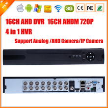 Home DVR Recorder AHD 720P 16CH AHDM DVR 16 Channel 2 SATA HDD Port 3G Wifi AHD DVR 16CH Hybrid NVR DVR Recorder ONVIF 16CH