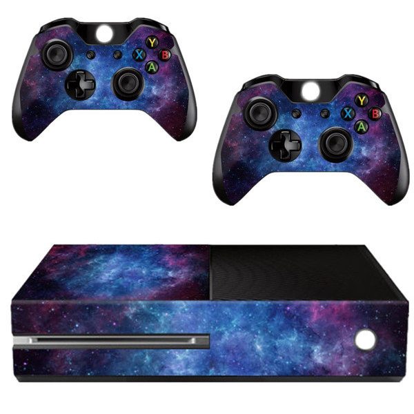 FULL-Nebula Pattern Skin Sticker For Xbox ONE Console Controller +Kinect Decal Vinyl title=