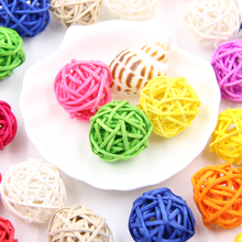 20PCS 3CM Multicolor Rattan Ball DIY Sepak Takraw Balls Home Ornaments&Christmas/Birthday/Wedding Party Decorations Kids Toys